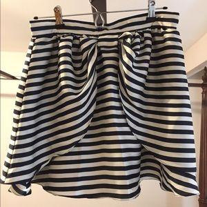 Navy striped Sailor Style Skirt